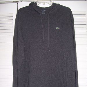 LACOSTE Hooded L/S TEE *Dark Gray* Size 3XL